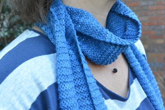 scarf around the neck.